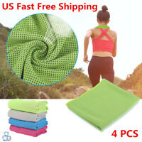 4 PCS ice Cooling Towel for Sports Workout Fitness Gym Yoga Pilates - US STOCK