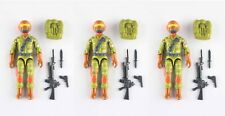 RedLasersArmy GI Joe Custom Steel Brigade Tiger Force Figures & Accessories x3