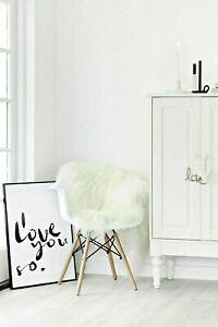 Icelandic Single Pelt Sheepskin Rug Cream White Fluffy Fur Soft Extra Long Wool
