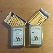 """(2) Vintage Camel Special Lights Collectible Promo Mini 2"""" Match Box w/Matches"""