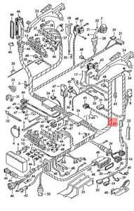 Genuine Volkswagen Grommet NOS VW Electr. Connect Elements Passat 3B5971840