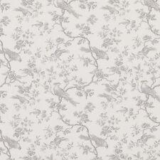 MASSIVE REMNANT John Lewis Botanica Bird GREY Linen Fabric -Approx 140cm x 2.2M