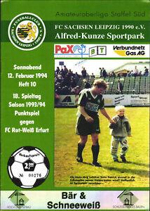 OL 93/94 FC Sachsen Leipzig - FC Rot-Weiß Erfurt, Hans-Jörg und Patrick Leitzke