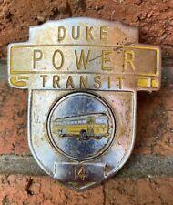 Duke Power Transit Badge - Bus Trolley Driver - Uniform - Hat - Vintage - Rare