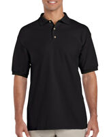 BLACK MENS POLO SHIRT, Gildan Ultra Cotton Pique Top - CHEAPEST ON EBAY - GD38