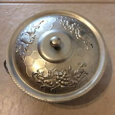 Nasco Italy hand forged/wrought aluminum covered 2 handled serving dish