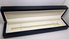 Yellow gold finish round cut created diamond tennis bracelet gift boxed