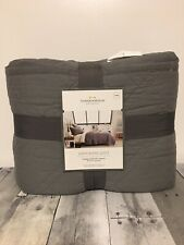 Threshold - Linen Blend Quilt {King} Gray ~ New!