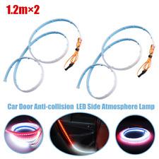 120cm Car Door LED Light Strip Side Atmosphere Lamp Slim Strip Running Flow Lamp