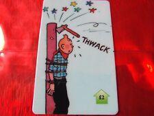 TRES RARE TELECARTE NEUVE - 2 Livres - Tintin au far west 2  - 500 exemplaires