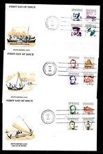 Mokronesien, Pacific, FDC-set 12.7.1984, Explorers, CAT:26€