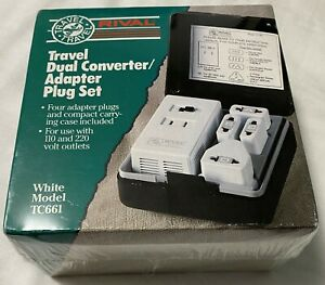 New Rival Travel Dual Converter / Adapter Plug Set TC661 - White