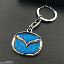 High Quality Single Side Car Logo Key Chain Metal Keychain Key Ring For MAZDA