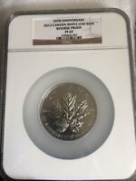 2013 Canada S$50 5 Oz Maple Leaf 25th Anniversary Reverse Proof NGC PF69