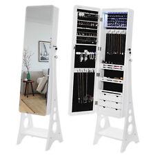 Schmuckschrank Spiegelschrank standspiegel 8 LEDs Aufbewahrung Weiß JBC89WT