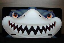 SHARK FACE  SHARK TEETH METAL NOVELTY LICENSE PLATE FOR CARS SMILEY FACE SHARK