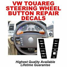 2004–2009 VW Volkswagen Touareg Steering Wheel Button Repair Decals Stickers