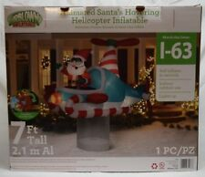 NIB Animated Santa's Hovering Helicopter 7ft. Christmas Inflatable outdoor decor