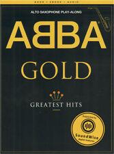ABBA Gold Greatest Hits Play-Along für Altsaxophon Alt-Sax Noten m Download Code