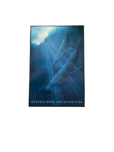 Vintage New York ART EXPO 1982 George Sumner Time For Respect Blue Whale POSTER