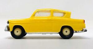 1960 Ford Anglia HO Scale Anguplas Mini Cars Made in Spain YELLOW M21