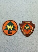 2 X Wilderness Explorer Iron On Sew On Patches Embroidered Badges Pixar Disney