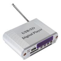 Mini Car Motorcycle Power Amplifier Digital FM Radio MP3 SD USB Audio Player