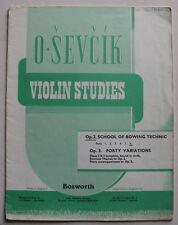sevcik opus 2 part 6, méthode de violon