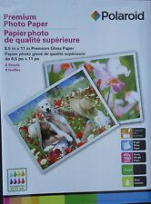 "POLAROID PREMIUM GLOSSY PHOTO PAPER All Ink Jet Printers 8.5 "" x 11"", 8 Sheets"