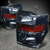 FOR 08-10 FORD F250 F350 SUPER DUTY SMOKED HOUSING AMBER CORNER HEADLIGHT LAMPS
