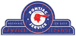 65x30cm Pontiac Shield Tin Sign, Man Cave, Bar, Garage, Retro, Vintage