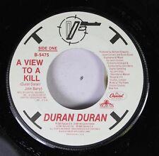 Pop 45 Duran Duran - A View To A Kill / A View To A Kill (That Fatal Kiss) On Ca