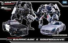 Transformers DOTM APS-03 Human Alliance Barricade Frenzy & Soundwave Takara MISB