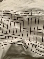 Nicole Miller Argos Duvet Cover White w Brown Embroidery King Hard To Find