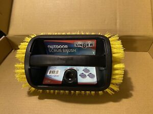NEW Unger - Professional Outdoor Four-Sided Scrub Brush For Wood,Concrete,Brick