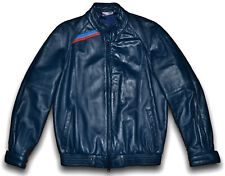 Vintage 80s BMW M STYLE Nappa Leather Jacket Cafe Racer Mens Small 38 E30 M3 M5