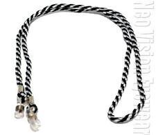 Lot of 12 Black and White Cords for Sun Glasses Nylon Neck Cord Retainer