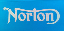 """Norton motorcycle retro tank decal sticker 5.75""""x1.75"""" Lot of 2  decals colors"""