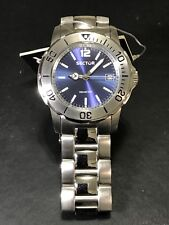 SECTOR 200 3H Men's Divers Blue Dial Bracelet Quartz Watch 3253208055 10ATM 38mm