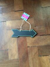Arrow Shape Chalkboard Sign -Green  Edge Rope Handle Price Directions