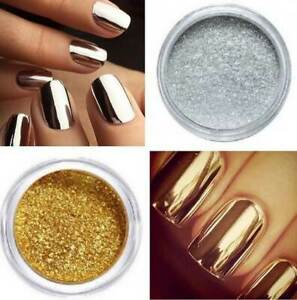 Metal Mirror BORN PRETTY Nail Glitter Powder 2g Gold Silver Chrome Pigment Manic