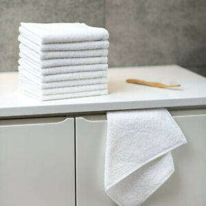 24 x White Hotel Quality Facecloths, Washcloths | 500 GSM | 100% Organic Cotton