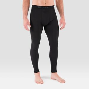 Men's Medium Terramar 2.0 Thermal Pants Black Base Layer