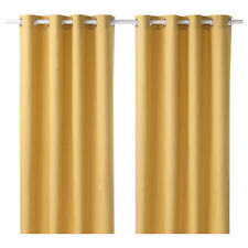 IKEA Curtains 1 Pair Mariam Yellow 145x250 Cm