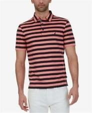 Nautica Classic Fit Striped Polo Pale Coral Mens Size Large New
