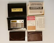 Casio Vintage Pocket Watch Electronic Calculator PW-80 - Original Box