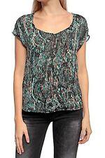 Gestreifte klassische Kurzarm-Damenblusen, - Tops & -Shirts im Blusen