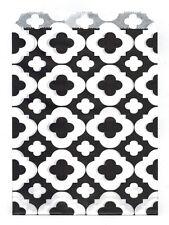 25 Pcs BlackFlower Pattern 5x7 Print Paper Gift Bags Favor Candy Shop