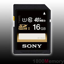 GENUINE SONY 16GB SDHC Secure Digital 40MB/s 266X UHS-I Class10 Video HD DSLR