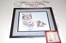 Cross My Heart Leaflet- Animal Profiles: White Tiger - Cross Stitch - NEW